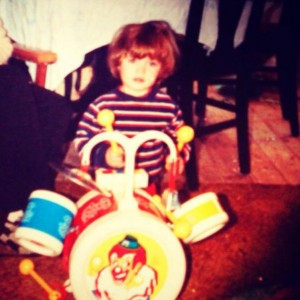 Mike as a kid drumming